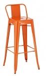 Barová židle Factory, výška 77 cm, oranžová