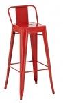 Barová židle Factory, výška 77 cm, červená