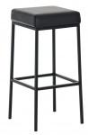 Barová stolička Joel, výška 80 cm, černá-černá