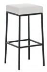 Barová stolička Joel, výška 80 cm, černá-bílá
