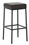 Barová stolička Joel, výška 80 cm, černá-hnědá