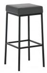 Barová stolička Joel, výška 80 cm, černá-šedá