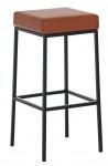 Barová stolička Joel, výška 80 cm, černá-koňaková