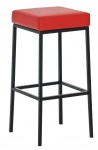 Barová stolička Joel, výška 80 cm, černá-červená