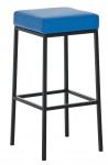 Barová stolička Joel, výška 80 cm, černá-modrá