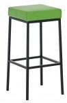 Barová stolička Joel, výška 80 cm, černá-zelená