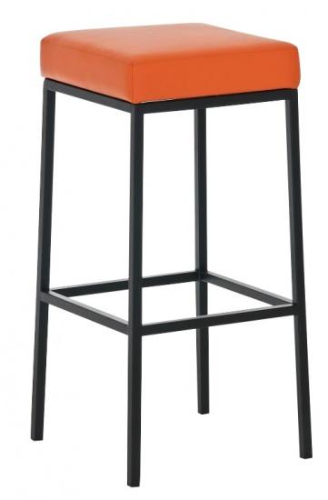 Barová stolička Joel, výška 80 cm, černá-oranžová