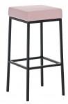 Barová stolička Joel, výška 80 cm, černá-růžová