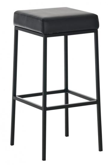 Barová stolička Joel, výška 85 cm, černá-černá