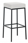 Barová stolička Joel, výška 85 cm, černá-bílá