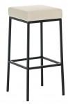 Barová stolička Joel, výška 85 cm, černá-krémová
