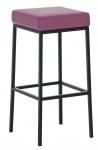 Barová stolička Joel, výška 85 cm, černá-fialová