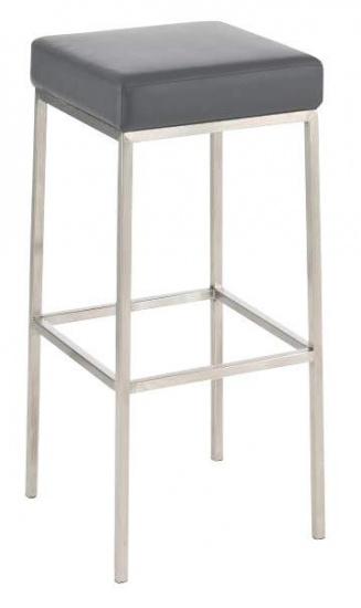 Barová stolička Joel, výška 80 cm, nerez-šedá