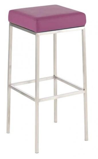 Barová stolička Joel, výška 80 cm, nerez-fialová