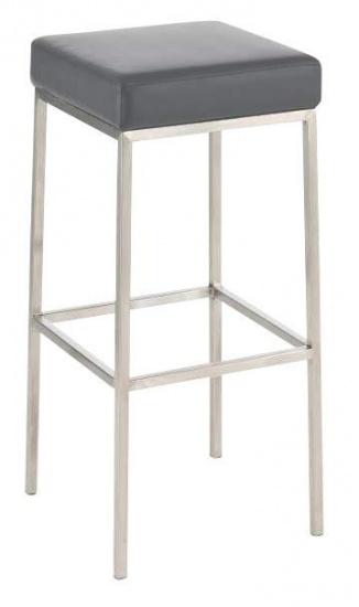 Barová stolička Joel, výška 85 cm, nerez-šedá