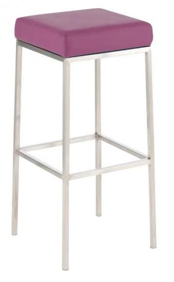 Barová stolička Joel, výška 85 cm, nerez-fialová