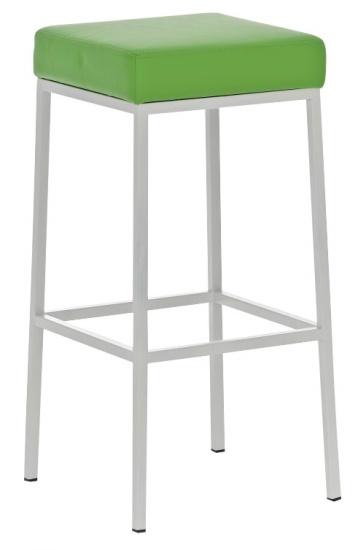 Barová stolička Joel, výška 80 cm, bílá-zelená
