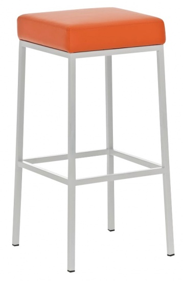 Barová stolička Joel, výška 85 cm, bílá-oranžová