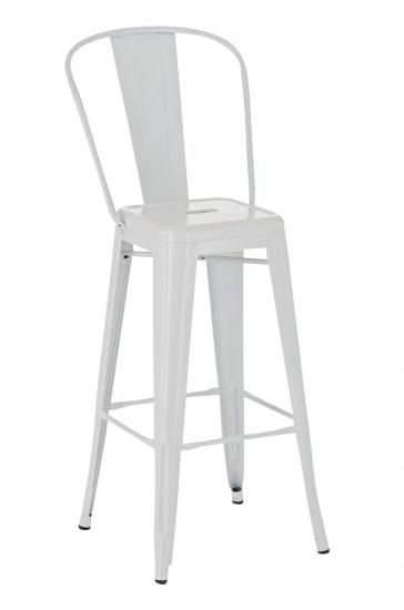 Barová židle Factory, výška 77cm, bílá