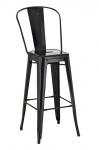 Barová židle Factory, výška 77cm, černá