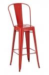 Barová židle Factory, výška 77cm, červená