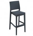 Venkovní barová židle Martini, tmavě šedá