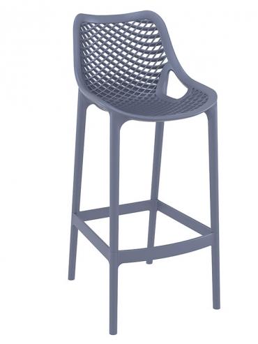 Barová židle Soufi outdoor, šedá