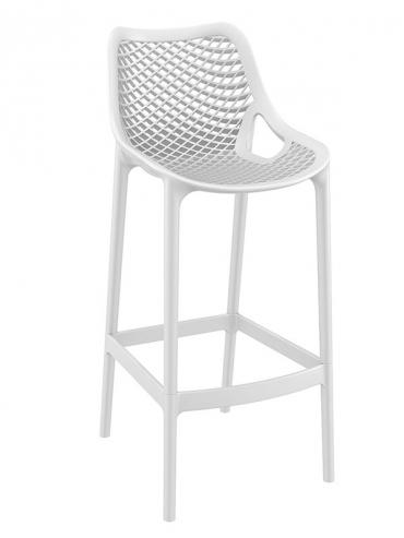 Barová židle Soufi outdoor, bílá