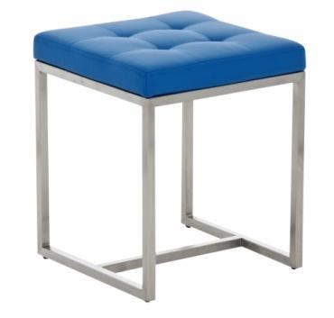 Stolička s nerezovou podnoží Agnes, modrá