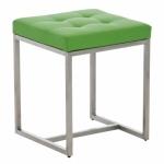 Stolička s nerezovou podnoží Agnes, zelená