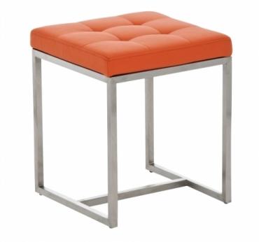 Stolička s nerezovou podnoží Agnes, oranžová
