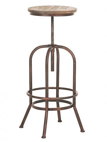 Barová židle s bronzovou podnoží Arkansas