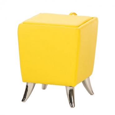 Taburetka s úložným prostorem Garbel, žlutá