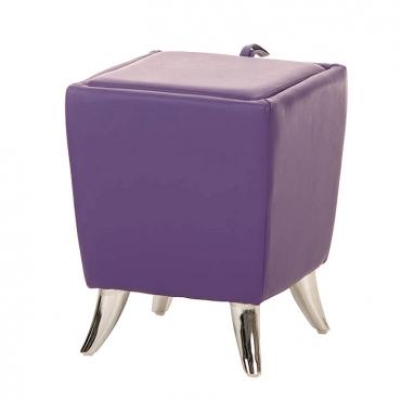 Taburetka s úložným prostorem Garbel, fialová