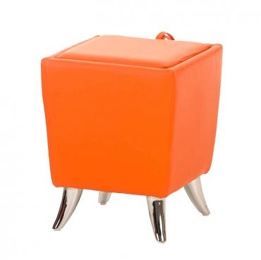 Taburetka s úložným prostorem Garbel, oranžová
