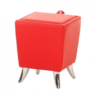 Taburetka s úložným prostorem Garbel, červená