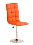 Jídelní / pracovní otočná židle Gauja, oranžová