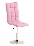 Jídelní / pracovní otočná židle Gauja, růžová