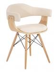 Jídelní / jednací židle dřevěná Lorei, krémová