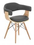 Jídelní / jednací židle dřevěná Lorei, šedá