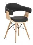 Jídelní / jednací židle dřevěná Lorei, černá
