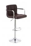 Barová židle Evita V2, hnědá