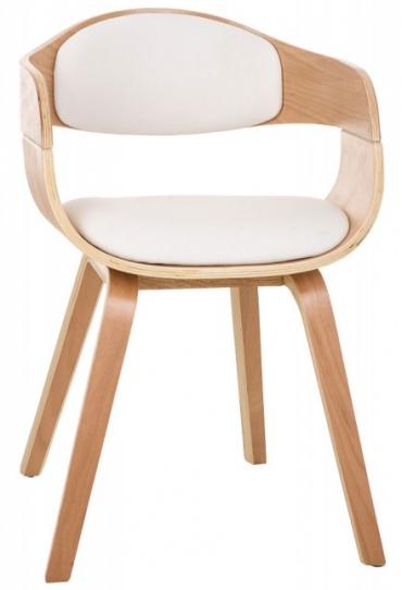 Jídelní / konferenční židle dřevěná Stona, bílá
