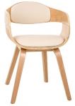 Jídelní / konferenční židle dřevěná Stona, krémová