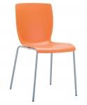 Jídelní / konferenční židle Mirabel, oranžová