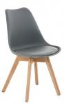 Jídelní / konferenční židle Borna podnož přírodní, šedá