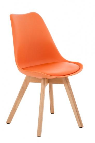 Jídelní / konferenční židle Borna podnož přírodní, oranžová
