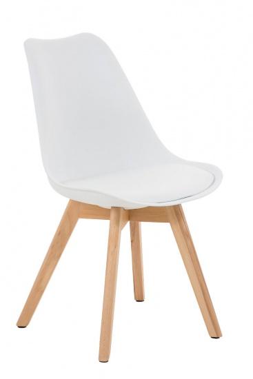 Jídelní / konferenční židle Borna podnož přírodní, bílá