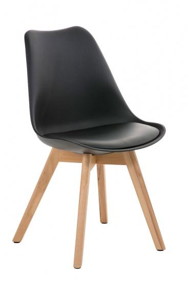 Jídelní / konferenční židle Borna podnož přírodní, černá