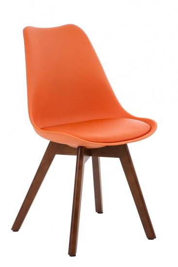 Jídelní / konferenční židle Borna podnož ořech, oranžová